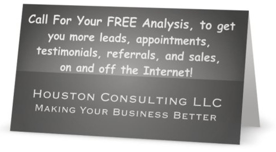 Getting you more leads, appointments, testimonials, referrals, and sales on and off the Internet!
